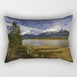 Walking with her head in the clouds Rectangular Pillow