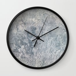 Vintage Lunar Moon Map, 1960s Wall Clock