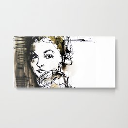 look back Metal Print