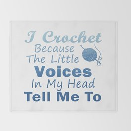 Crochet Because Little Voices Throw Blanket
