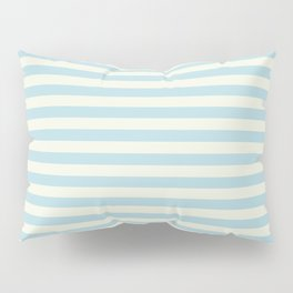 Blue Plume Pale Creme Stripe Pillow Sham