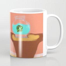 Fish and Living Room Scene Coffee Mug