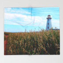 Lighthouse Path Throw Blanket