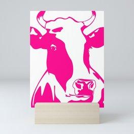 Animal Art Pink Cow Mini Art Print