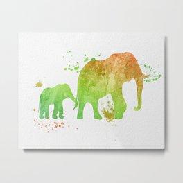 Elephants 020 Metal Print