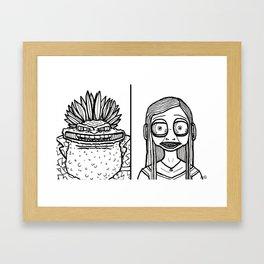 B&W Weirdos 24 Framed Art Print
