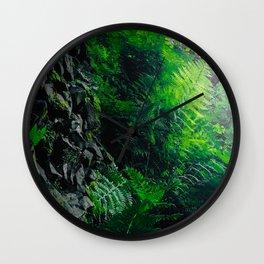 Rocks and Ferns Wall Clock