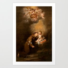 Bartolome Esteban Murillo - Saint Anthony of Padua with the Child Art Print