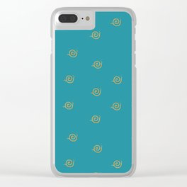 Snails Forever Clear iPhone Case