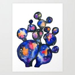 Cosmic Cactus Art Print