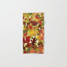 Autumn Fall Leaves Hand & Bath Towel