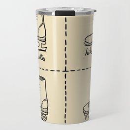 Sport shoes doodles Travel Mug