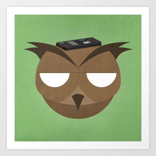 Remote Owl Art Print