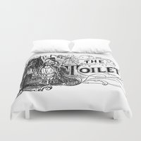 toilet Duvet Covers featuring The Toilet by Bramble & Posy