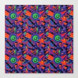 Star Burst Geometric Carpet Pattern Canvas Print