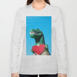 Tiny Arms, Big Heart: Tyrannosaurus Rex with Red Heart Long Sleeve T-shirt