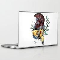 vespa Laptop & iPad Skins featuring Vespa by Mirek Kopinec