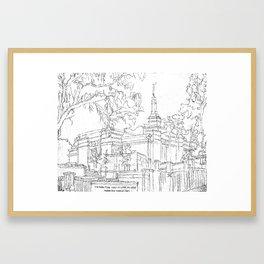 Melbourne AU LDS Temple Sketch Framed Art Print
