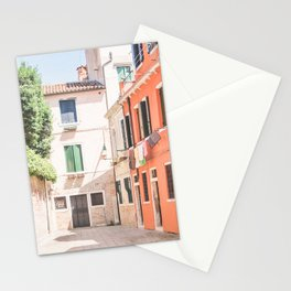 444. Little colorful Place, Venice, Italy Stationery Cards