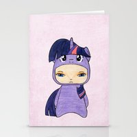 mlp Stationery Cards featuring A Boy - Twilight Sparkle by Christophe Chiozzi