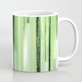Green Black Purple Stripes Coffee Mug