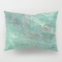 Mossy Woods Green Marble Pillow Sham