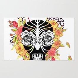 Flower skull. Rug
