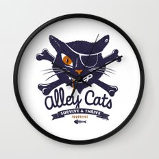 Alley Cats Wall Clock