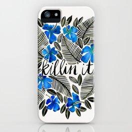 Killin' It – Tropical Blue iPhone Case