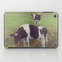 cows iPad Cases featuring Rustic Cows by Olivia Joy StClaire