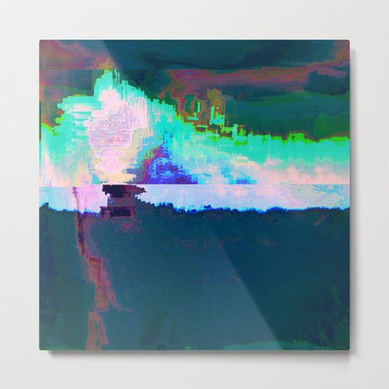 18-23-46 (Skyline Cloud Glitch) Metal Print