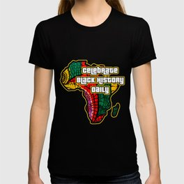 Celebrate Black History Daily African Fabric Collage T-shirt