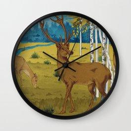 Deers B Wall Clock