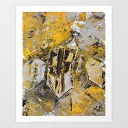 Church Study, 2, Acrylic On Canvas, Chase Medved Art Print
