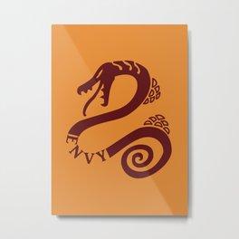 The Serpent's Sin of Envy Metal Print