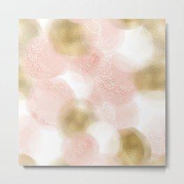 Rose Gold and Gold Blush Metal Print