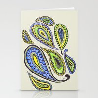 paisley Stationery Cards featuring Paisley by Laura Maxwell
