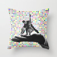 dancing Throw Pillows featuring Dancing by Cs025