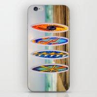 surfboard iPhone & iPod Skins featuring Surfboard by Leonardo Vega
