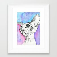 psych Framed Art Prints featuring Psych Sphinx by Szilvia Lucas