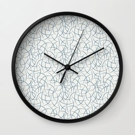 Dark Blue Abstract Crescent Shape Pattern on Off White - 2020 Color of the Year Chinese Porcelain Wall Clock