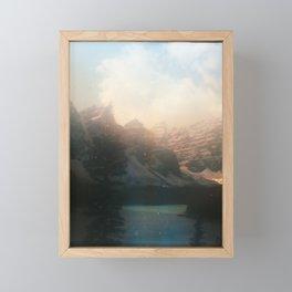 Lake Moraine Framed Mini Art Print
