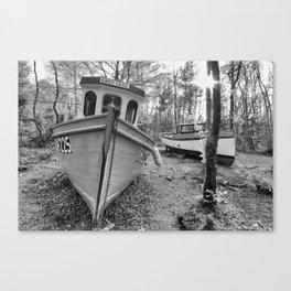 Abandoned Fishing Boats Canvas Print