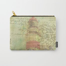 Vintage Nautical Map Lighthouse Carry-All Pouch
