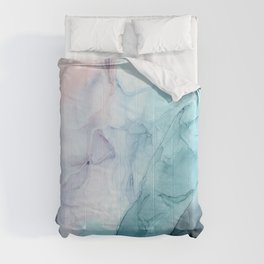 Beachy Pastel Flowing Ombre Abstract Flip Comforters