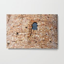 Watch Tower Window Metal Print