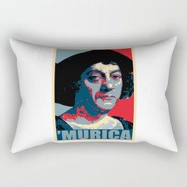 Christopher Columbus Murica Rectangular Pillow