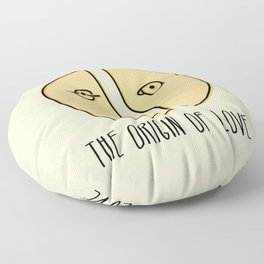 The Origin Of Love Floor Pillow