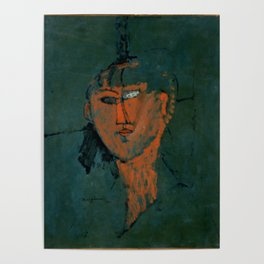 """Amedeo Modigliani """"Red Head (Tête rouge)"""" Poster"""