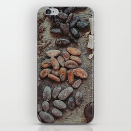 Cacao, beans, chocolate iPhone Skin